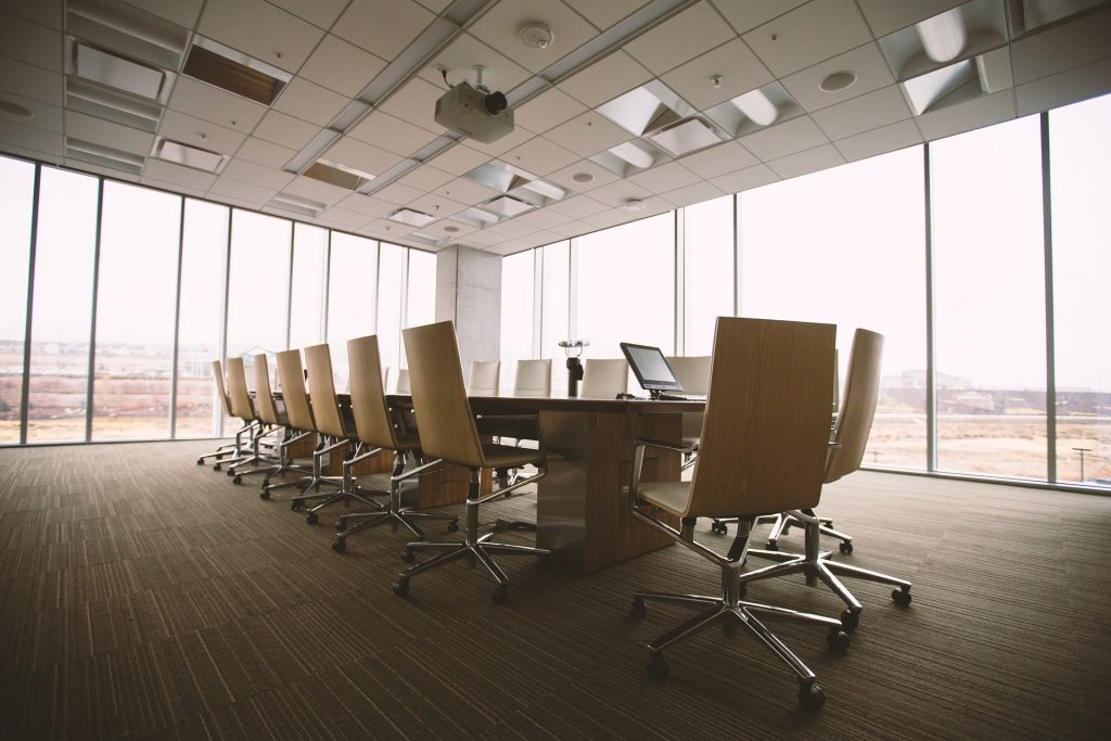 Air Conditioned Conference Room in Modern Office